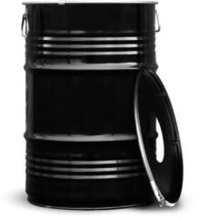 BinBin Prullenbak Zwart 60 Liter olievat met gat in deksel