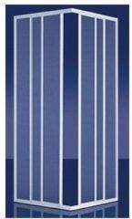 Plieger Economy douchecabine hoekinstap 2.2 mm acryl 80/90x185 cm aluminium