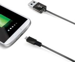 Celly 2.0m USB A - Micro USB B USB-kabel 2 m Micro-USB B Zwart