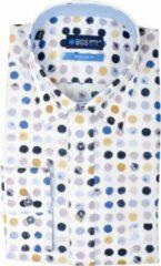 Bos Bright Blue 20307WA49BO Casual overhemd met lange mouwen - Maat 3XL - Heren