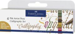 Faber Castell Tekenstift Faber-Castell Pitt Artist Pen kalligrafieset van 4st