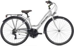 28 Zoll Damen Trekking Fahrrad 21 Gang Cinzia Crystal Cinzia weiß