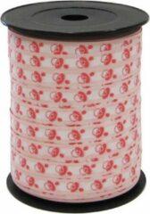 Hegro Wolvega BV Cadeaulint / sierlint / verpakkingslint / kadolint 10mm breed, lichtroze met babyspeen
