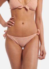 Shiwi gestreept strik bikinibroekje Ipanama wit/bruin