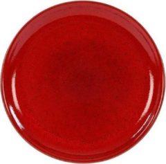 Rode Kaitø Coupebord diam. 19cm. 'Blossom Red' KAITØ Stoneware per 6 stuks