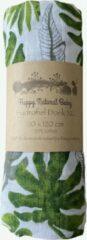 Groene Happy Natural Baby Hydrofiel Doek XL Blad- Hydrofiel Luier- Inbakerdoek- Baby Bad- kado