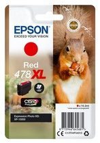 Epson Singlepack Red 478XL Claria Photo HD Ink 10.2ml Rood inktcartridge