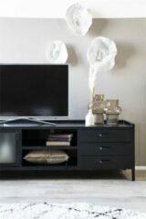 Zwarte Eleonora TV-meubel 'Industrieel' met 2 deuren en 3 laden