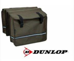 Dunlop Fietstas - Dubbele fietstas - Bruin - 26 Liter Inhoud