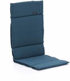 Blauwe Madison Fiber tuinkussens hoog 125x50cm - Laagste prijsgarantie!