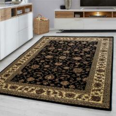 Marrakesh Laagpolig Vloerkleed - Agadir - Zwart - 160 x 230 cm - Vintage, Patchwork, Scandinavisch & meer stijlen vind je op WoonQ.nl