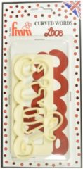 Creme witte FMM Curved Words Cutter Love
