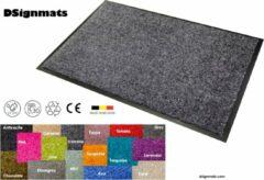 "Grijze Smophy Home Wash & Clean vloerkleed / entree mat, droogloop, ook voor professioneel gebruik,, kleur ""Grey"" machine wasbaar 30°, 150 cm x 90 cm."