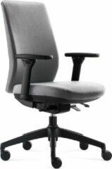 Licht-grijze BenS 918-Synchro-4 grijs Luxe ergonomische bureaustoel Arbo Stoffen bekleding Volledig instelbaar