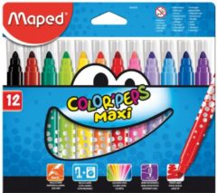 Maped viltstift Color'Peps Jumbo Early Age, etui van 12 stuks in geassorteerde kleuren