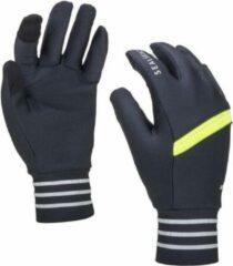 Sealskinz Solo Reflective Glove Yellow Fietshandschoenen - Maat M - Zwart/Neon geel