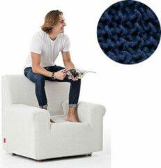 MeubelVisie Milos meubelhoezen - Hoes voor fauteuil 70-110cm - Blauw - Verkrijgbaar in verschillende kleuren!