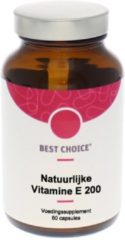 Best Choice Vitamine E 200IE D alpha tocopherol 60 Capsules