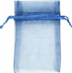 Creativ company Organza zakjes blauw afm 7x10 cm 10stuks