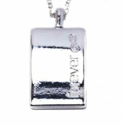 Zilveren Biba collier met tekst bedel glans -forever-blingdings