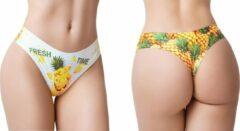 M Memème Memème – Fresh Summer Pineapple – Naadloze String - Maat M