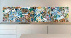 SoWhat-design Keuken achterwand: Parc Guell, Gaudi Mozaïek 305 x 70 cm