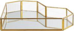 Transparante Decoratief dienblad spiegelend/goud PONTIVY