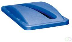 Rubbermaid Deksel Afvalbak - Papierbak - Blauw - Afvalscheiding
