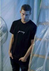 Urban Classics Heren Tshirt -2XL- Pray EMB Zwart