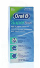 Oral B Flosdraad Superfloss Regular Mint 50stuks