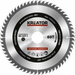Kreator KRT020415 Cirkelzaagblad - Hout - 185 mm - 60T
