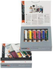 Royal Talens Artist set 6 kleuren 20 ml tubes watervermengbare olieverf (titaanwit, permanentgeel licht, pyrrolerood, permanentroodviolet, ultramarijn, permanentgroen donker)
