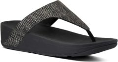 Zwarte FitFlop™ Lottie Glitter Stripe Toe-Thongs Polyester All Black - Maat 41