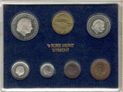 's Rijks Munt Nederland Jaarset Munten 1980 FDC