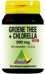 SNP Groene thee chlorella 500 mg puur 60 Capsules
