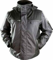 Merkloos / Sans marque Winterjas heren Yukon zwart/grijs maat XXXXL