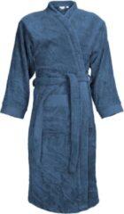 Blauwe Classic Collection I2T Badjas badstof zonder Capuchon - Denim - L/XL - 340 gr/m²
