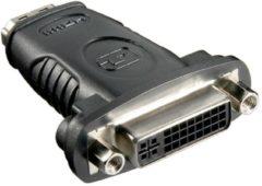 Zwarte Goobay A 337 (HDMI 19pin F/DVI-D 24+5pin F) 19 pin HDMI DVI (24+5) kabeladapter/verloopstukje