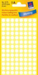 Avery-Zweckform 3175 Etiketten à 8 mm Papier Wit 416 stuk(s) Permanent Etiketten voor markeringspunten