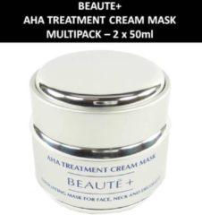 BEAUTEA Beaute+ - AHA Treatment Cream Mask - Masker - Gezichtsverzorging - 2 x 50 ml