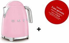 Smeg - KLF03PKEU MkIII - Waterkoker -Roze - met drie jaar garantie!