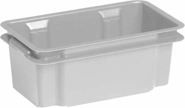 Afbeelding van Keter Crownest - Opbergbox - 7 Liter - Grijs - 36x21x35.5cm - (set van 8) En Yourkitchen E-kookboek - Heerlijke Smulrecepten