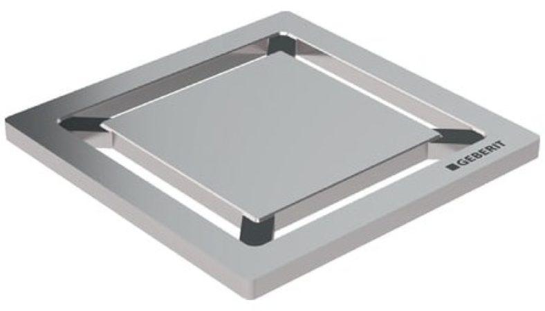 Afbeelding van Geberit putrooster met sleufgaten, putrooster roestvaststaal (RVS), vierkant