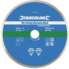Silverline Diamant Tegel Snijschijf (200 X 25,4 mm, Gesloten Velg)