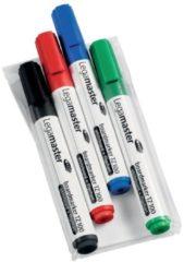 Legamaster whiteboardmarker TZ 100, etui met 4 stuks in geassorteerde kleuren