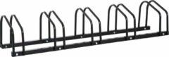 NiceGoodz Fietsenrek - Fietsrek -Fietsstandaard - Voor 5 fietsen - Muurmontage mogelijk - 130 x 33 x 27 cm - Zwart