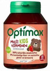 Optimax Kinder multi aardbei 90 Kauwtabletten