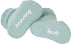 Groene BamBam Dancing Feet newborn sokken lagoon