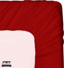 Bedlin Hoeslaken Micropercal 2 persoons Lits-Jumeaux en strijkvrij (180 x 200cm) Rood