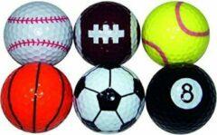 Longridge Sport Golfballen, zes stuks in sleeve